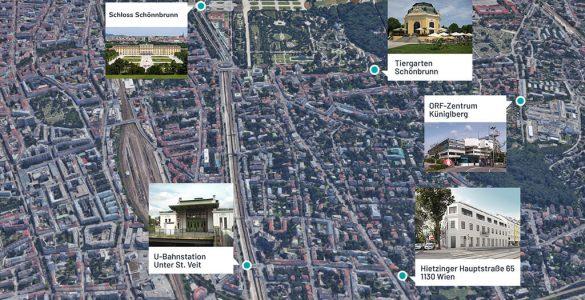 Map 1130 Wien Hietzing