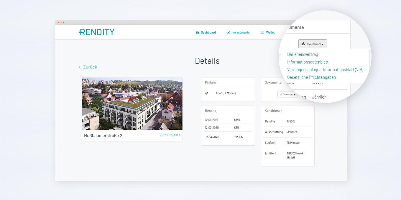 Projekt-Details Online-Plattform
