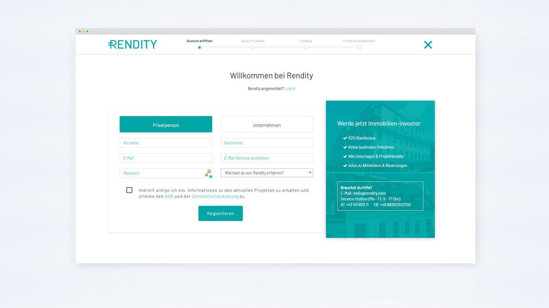 Registrierung-Online-Plattform