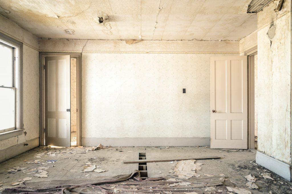 Wohnung, die renoviert werden muss