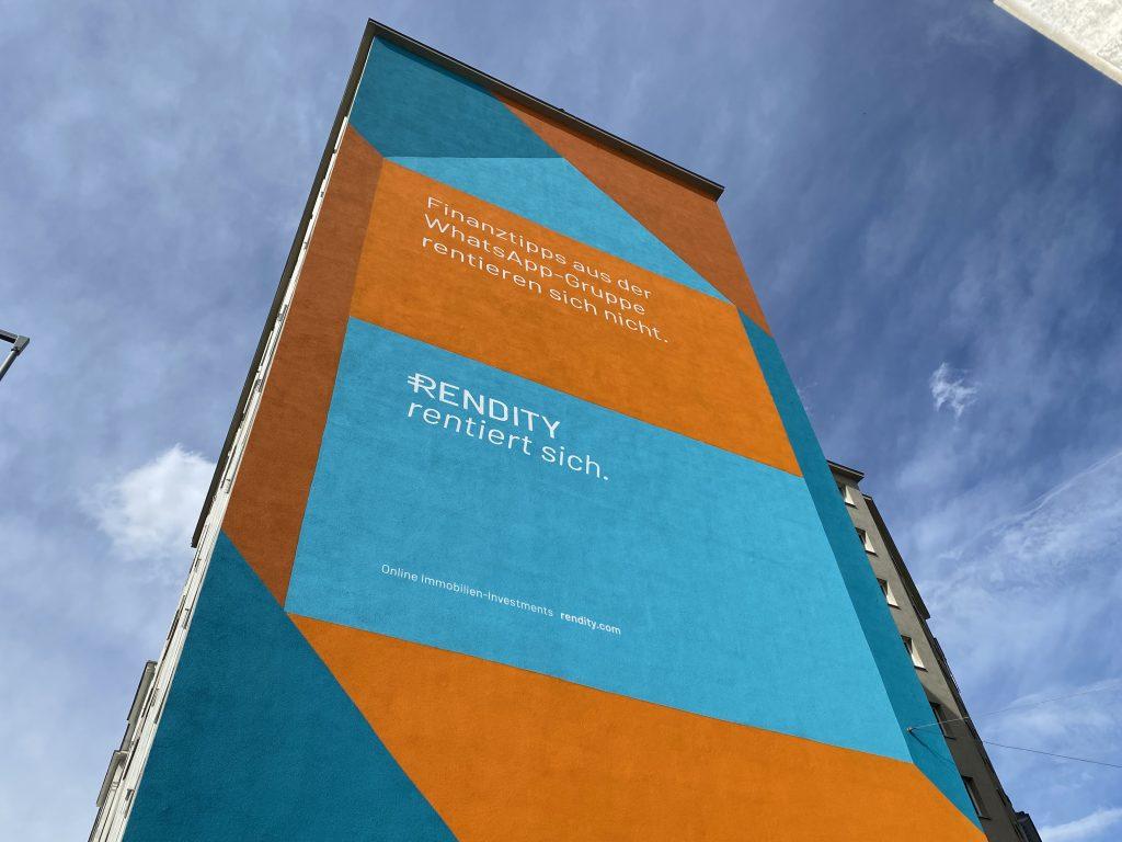 Werbewand für Rendity